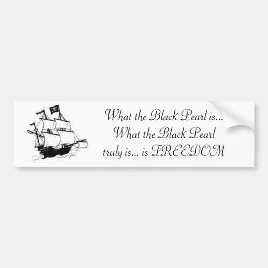 The Black Pearl Bumper Sticker
