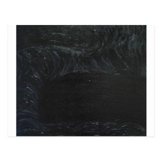 The Black Pond (black minimalism) Post Cards