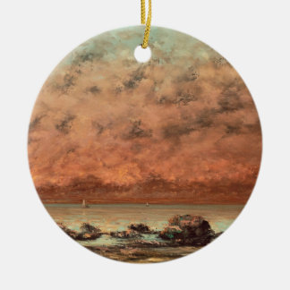 The Black Rocks at Trouville, 1865- 66 Christmas Ornament