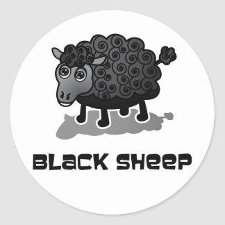 The Black Sheep Classic Round Sticker