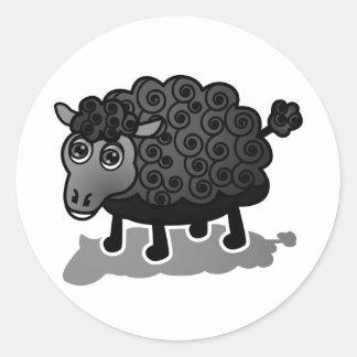 The Black Sheep Round Sticker