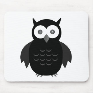 The Black & White Owl Mousepads