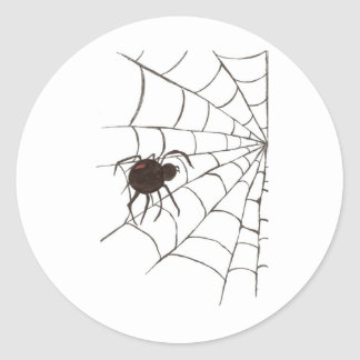 The Black Widow Classic Round Sticker