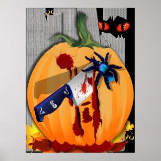 The Bleeding Pumpkin-no letters Poster