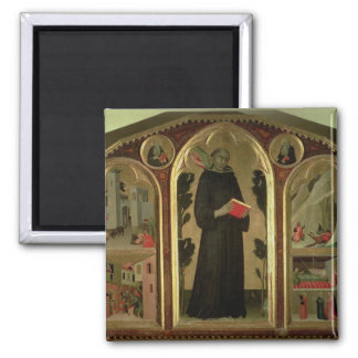 The Blessed Agostino Novello Altarpiece Square Magnet