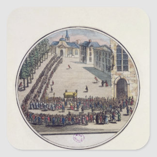 The Blessed Sacrament being carried Square Sticker