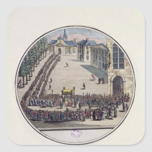 The Blessed Sacrament being carried Sticker
