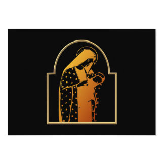 The Blessed Virgin Mary holding Baby Jesus 13 Cm X 18 Cm Invitation Card