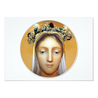 The Blessed Virgin Mary Statue ( May Crowning ) 13 Cm X 18 Cm Invitation Card