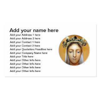 The Blessed Virgin Mary Statue May Crowning Business Card