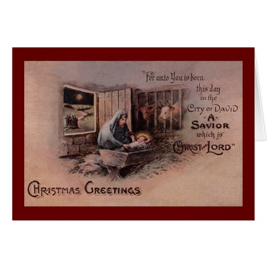 The Blessings of Christmas Greeting Card