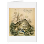 The Blessings of Christmas Nativity Scene Greeting Cards