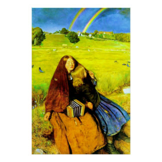 The Blind Girl ~ John Everett Millais Poster