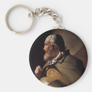 The Blind Hurdy Gurdy Player by Georges de la Tour Key Chain