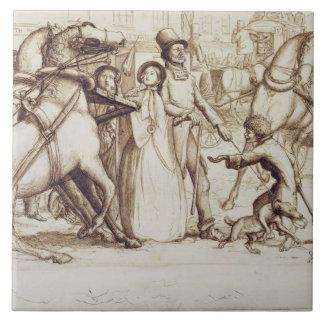 The Blind Man, 1853 (pen, ink, wash and graphite o Tile