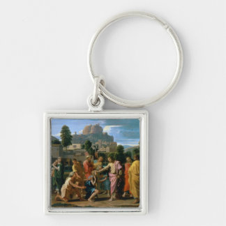 The Blind of Jericho Silver-Colored Square Key Ring