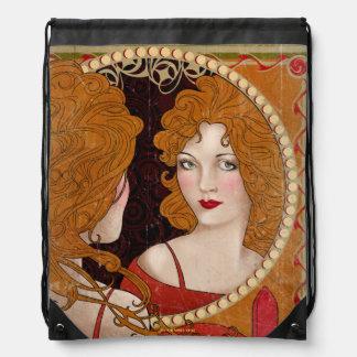 The Blind Pig Vintage Artwork Drawstring Bag