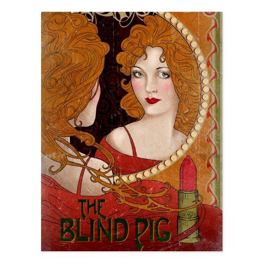 The Blind Pig Vintage Artwork Postcard