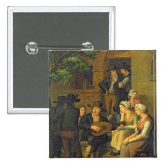 The Blind Singer, 1828 15 Cm Square Badge