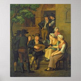 The Blind Singer, 1828 Poster