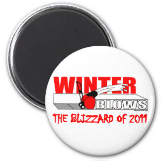 THE BLIZZARD OF 2011 6 CM ROUND MAGNET