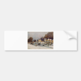 The Blocked Seine at Port Marly by Alfred Sisley Bumper Sticker