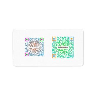 The Blog That Am! QR Code Seals Address Label