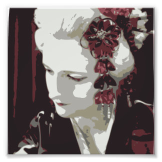 the blond Geisha Photo Print