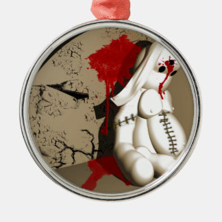 The Bloody bunny Silver-Colored Round Decoration