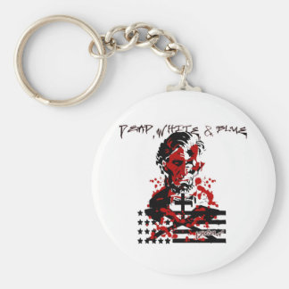 The Bloody Flag-Abraham Lincoln Basic Round Button Key Ring