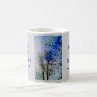 The Blue Among Clouds on a Winter Day Coffee Mug