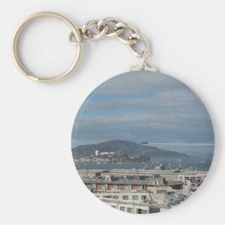 The Blue Angels Head to Alcatraz.jpg Basic Round Button Key Ring