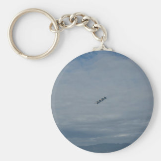 The Blue Angels In Formation.jpg Basic Round Button Key Ring
