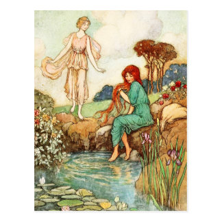 The Blue Bird: Queen Florina meets A Fairy Postcard