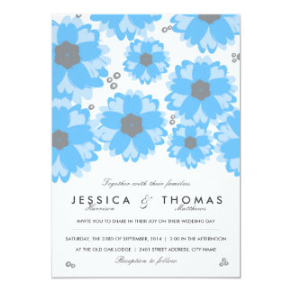 The Blue Blossom Wedding Collection 13 Cm X 18 Cm Invitation Card