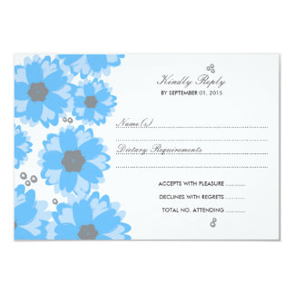The Blue Blossom Wedding Collection 9 Cm X 13 Cm Invitation Card