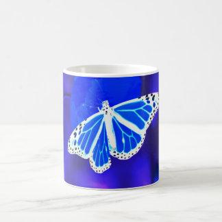 The Blue Butterfly Basic White Mug