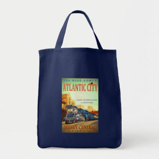 The Blue Comet Train Grocery Tote Grocery Tote Bag