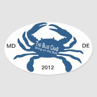 The Blue Crab Oval Sticker