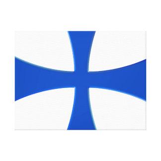 THE BLUE CROSS CANVAS PRINT