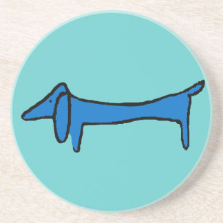 The Blue Dachshund Dog Coaster