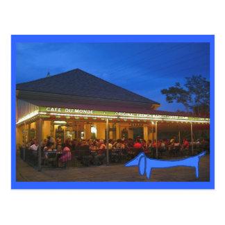 The Blue Dachshund New Orleans Postcard