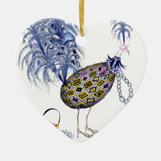 The Blue Diamond Fab Egg, tony fernandes Ceramic Heart Decoration