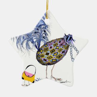 The Blue Diamond Fab Egg, tony fernandes Ceramic Star Decoration