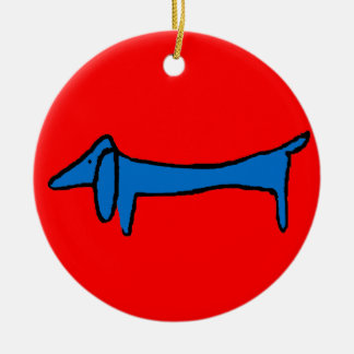 The Blue Dog Christmas Ornament