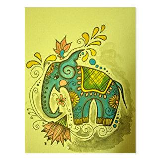 The Blue Elephant Postcard