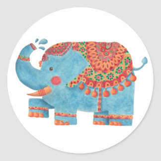 The Blue Elephant Round Sticker