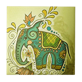 The Blue Elephant Small Square Tile
