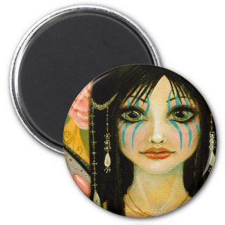 The Blue Faced Faerie 6 Cm Round Magnet