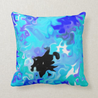 The Blue Forgot:  Modern Art Cushion